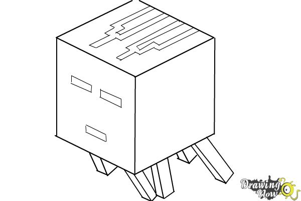How to Draw a Ghast from Minecraft - Step 8