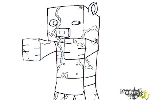 How To Draw Zombie Pigmen From Minecraft Drawingnow