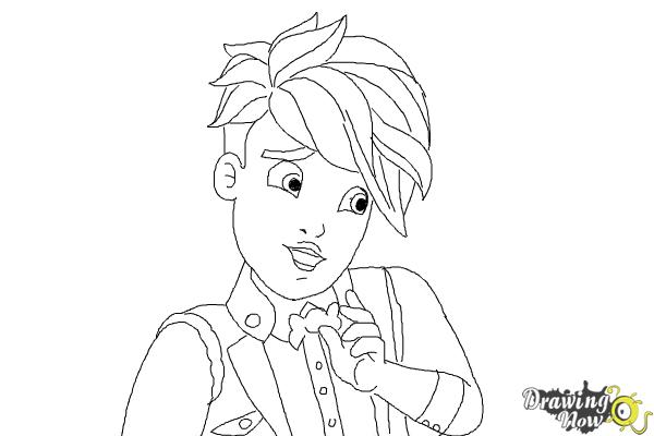 How to Draw Gus Crumb, Son Of Gretel from Ever After High - Step 10