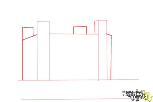How to Draw The Tower Of London - Step 3