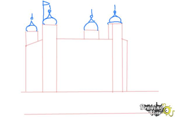 How to Draw The Tower Of London - Step 4