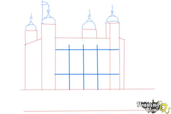 How to Draw The Tower Of London - Step 5