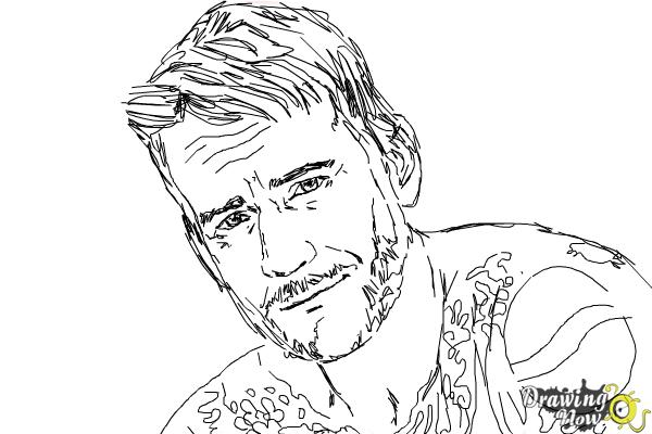 How to Draw Cm Punk - Step 8