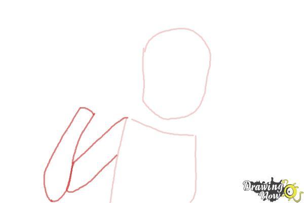 How to Draw Zakuro Fujiwara from Tokyo Mew Mew - Step 2