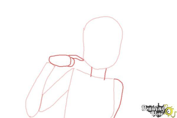 How to Draw Zakuro Fujiwara from Tokyo Mew Mew - Step 3