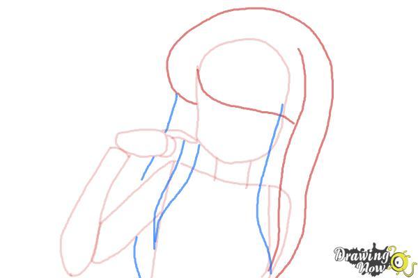 How to Draw Zakuro Fujiwara from Tokyo Mew Mew - Step 4