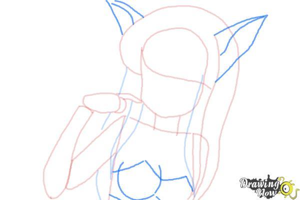 How to Draw Zakuro Fujiwara from Tokyo Mew Mew - Step 5