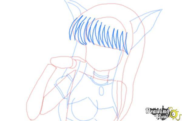 How to Draw Zakuro Fujiwara from Tokyo Mew Mew - Step 7
