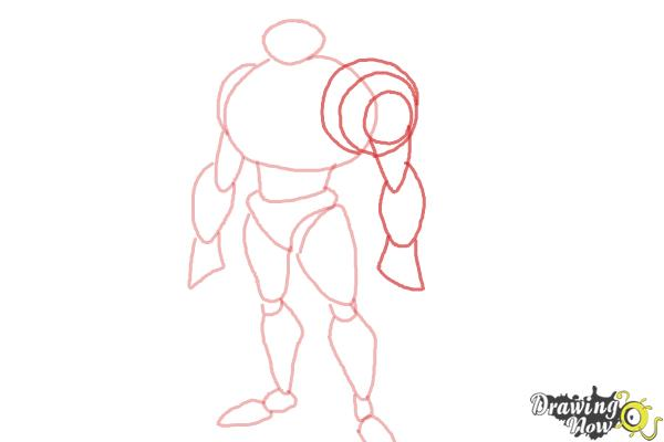 How to Draw Waterhazard from Ben 10 Omniverse - Step 5