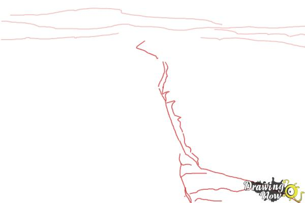 How to Draw The San Andreas Fault - Step 2