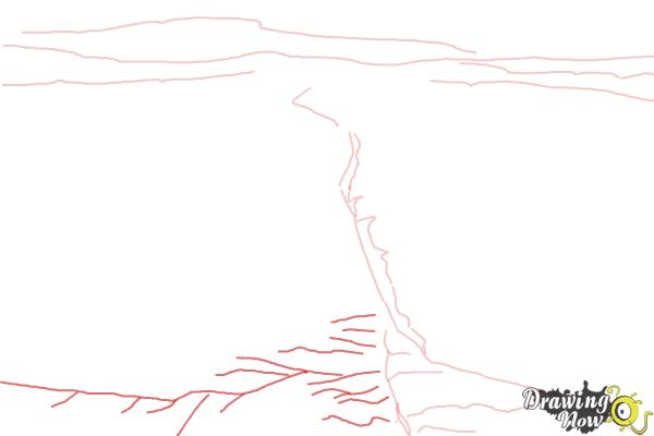How to Draw The San Andreas Fault - Step 3