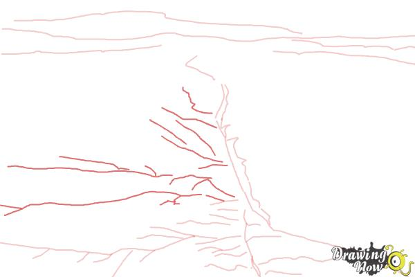 How to Draw The San Andreas Fault - Step 4