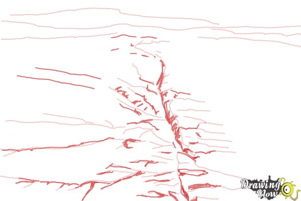 How to Draw The San Andreas Fault - Step 6