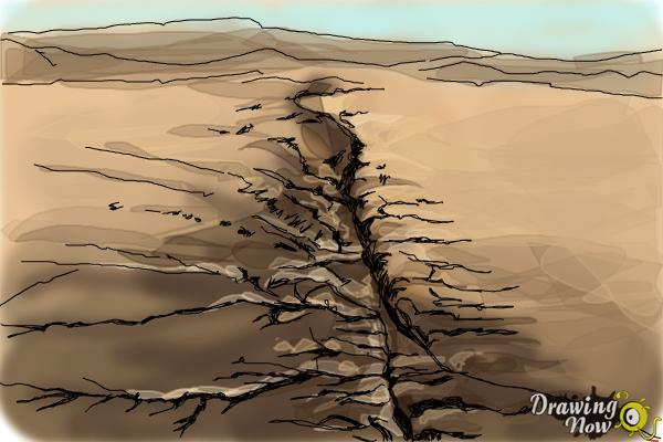 How to Draw The San Andreas Fault - Step 8