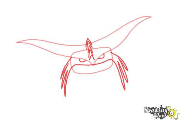 How to Draw Cloudjumper from How to Train Your Dragon 2 - Step 2