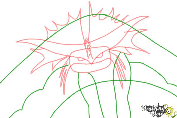 How to Draw Cloudjumper from How to Train Your Dragon 2 - Step 4