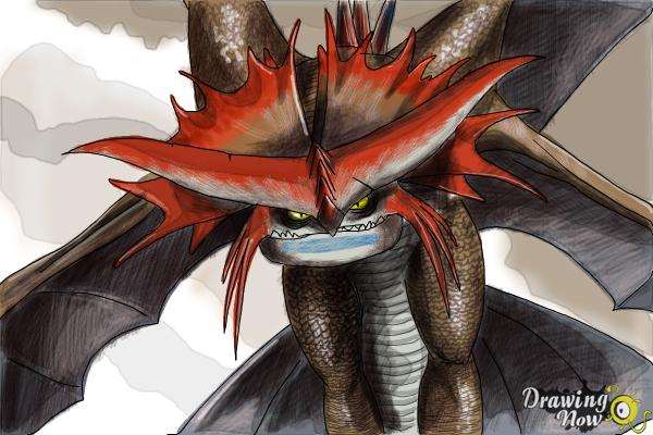 How to Draw Cloudjumper from How to Train Your Dragon 2 - Step 9