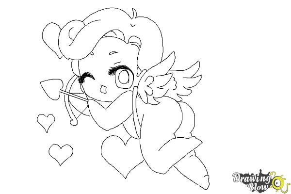 How to Draw Chibi Cupid - Step 10