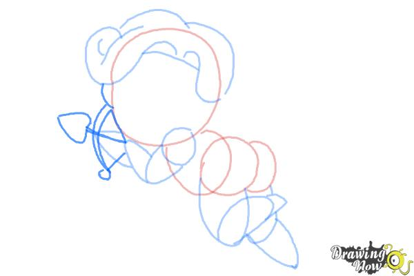 How to Draw Chibi Cupid - Step 7