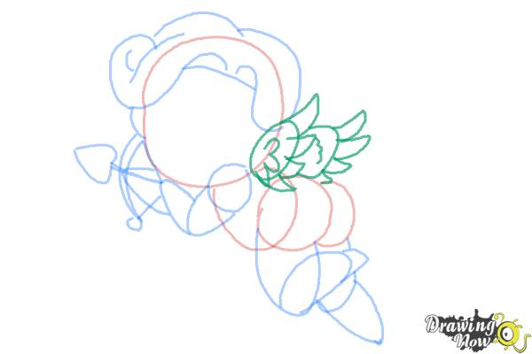 How to Draw Chibi Cupid - Step 8