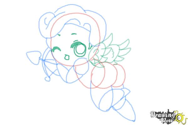 How to Draw Chibi Cupid - Step 9