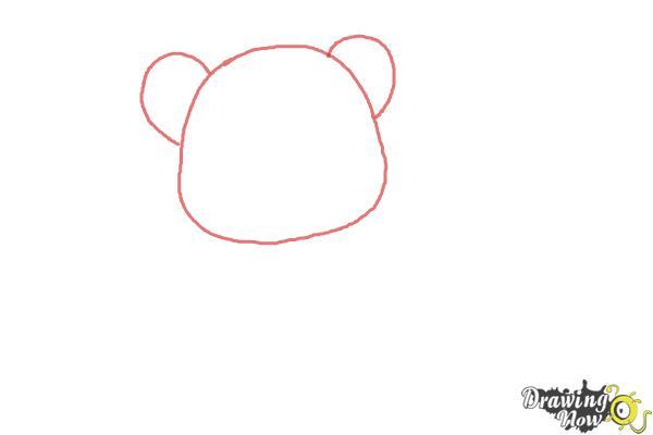 How to Draw a Chibi Valentine Bear - Step 1