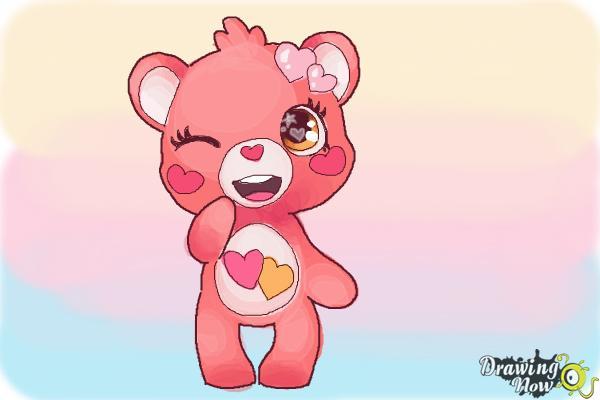 How to Draw a Chibi Valentine Bear - Step 10