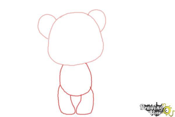 How to Draw a Chibi Valentine Bear - Step 2