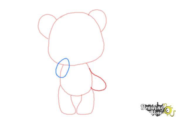 How to Draw a Chibi Valentine Bear - Step 3