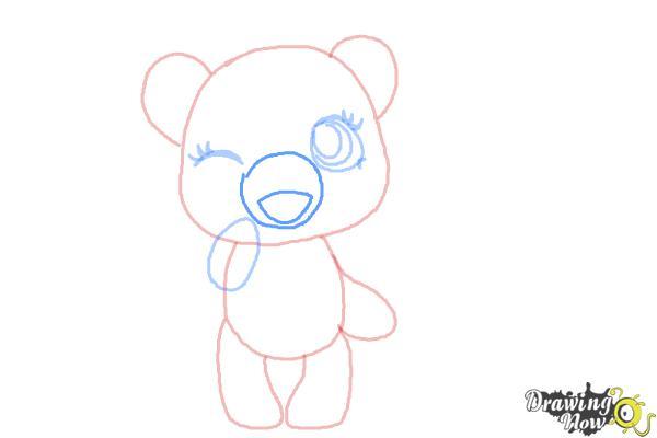 How to Draw a Chibi Valentine Bear - Step 5