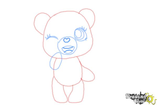 How to Draw a Chibi Valentine Bear - Step 6