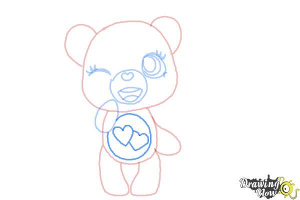 How to Draw a Chibi Valentine Bear - Step 7