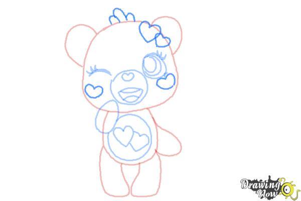How to Draw a Chibi Valentine Bear - Step 8