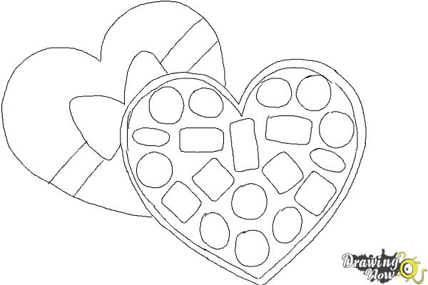 How to Draw Valentine Chocolates - Step 7