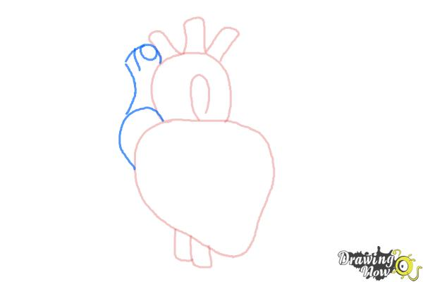 How to Draw a Real Heart - Step 4