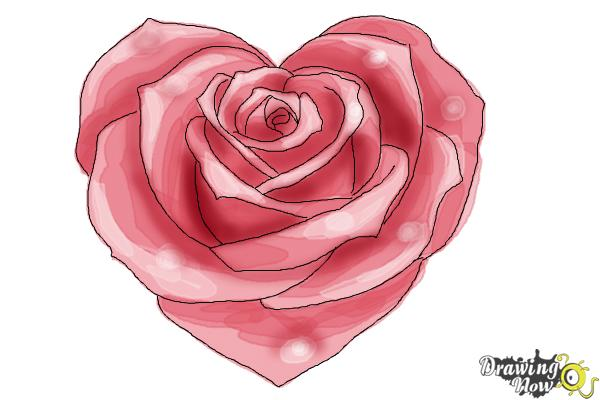 how to make rose drawing
