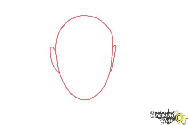 How to Draw Sam Smith - Step 1