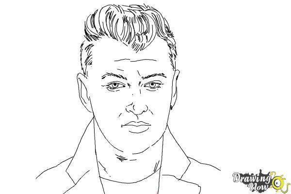 How to Draw Sam Smith - Step 10
