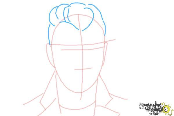 How to Draw Sam Smith - Step 5