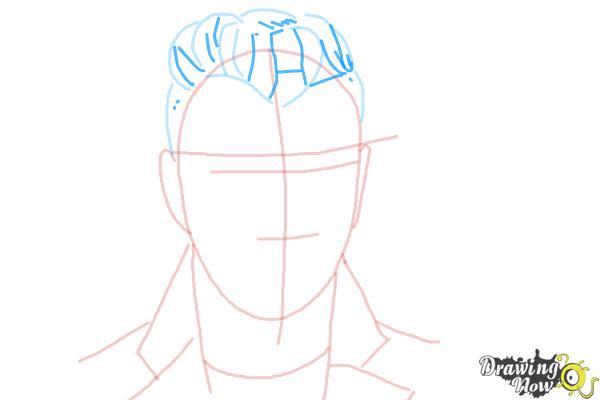How to Draw Sam Smith - Step 6