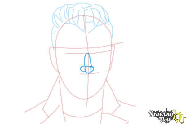 How to Draw Sam Smith - Step 7