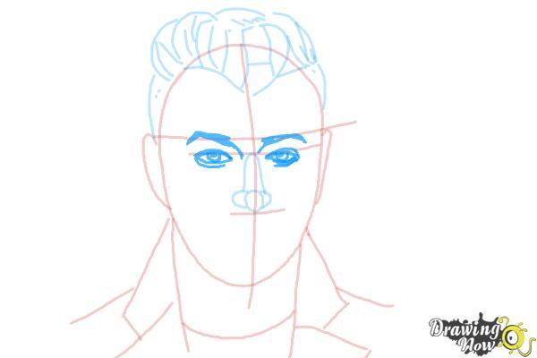 How to Draw Sam Smith - Step 8