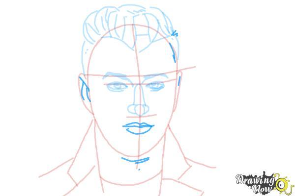 How to Draw Sam Smith - Step 9