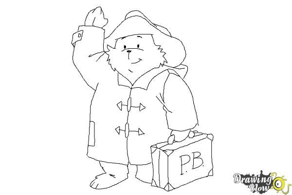 How to Draw Paddington Bear - Step 10
