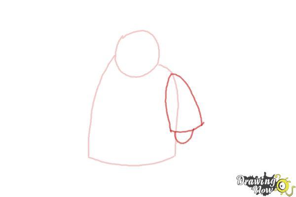 How to Draw Paddington Bear - Step 3