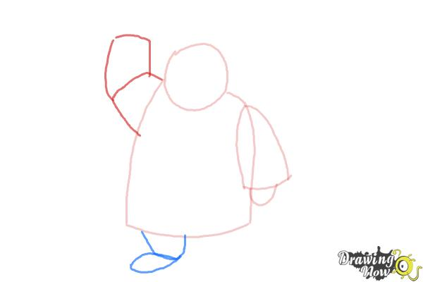 How to Draw Paddington Bear - Step 4