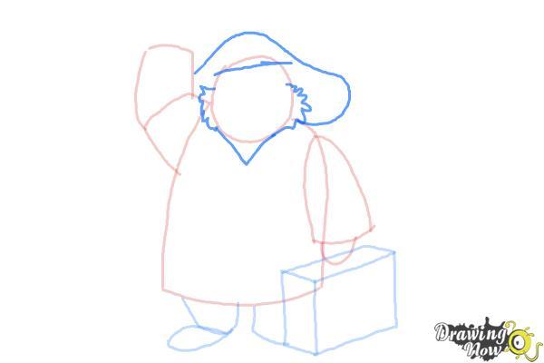 How to Draw Paddington Bear - Step 6