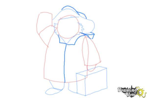 How to Draw Paddington Bear - Step 7