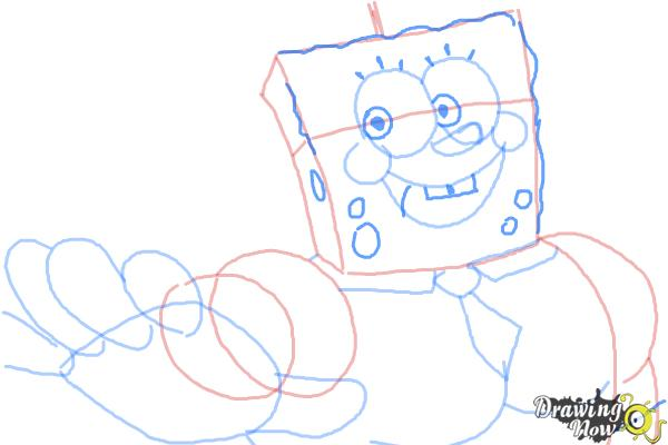 How to Draw SpongeBob, Invincibubble from SpongeBob: Sponge Out of Water - Step 9