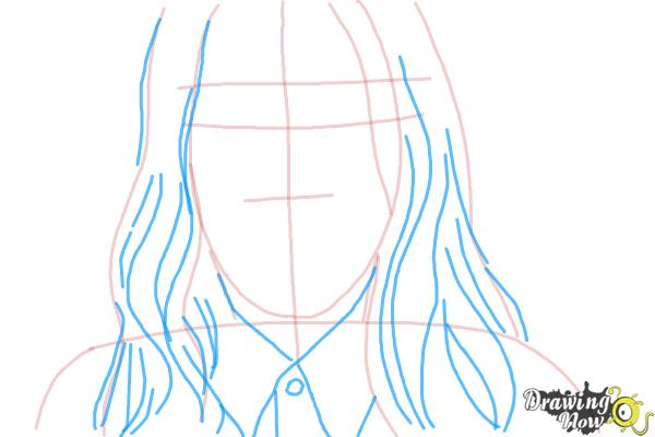 How to Draw Jared Leto - Step 4